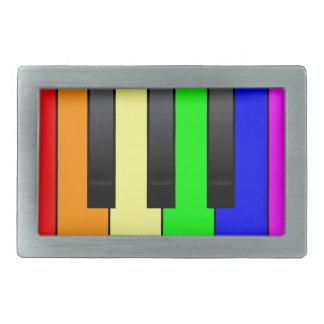 Trans Gay Piano Keys Belt Buckles