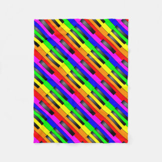 Trans Gay Piano Keys Fleece Blanket