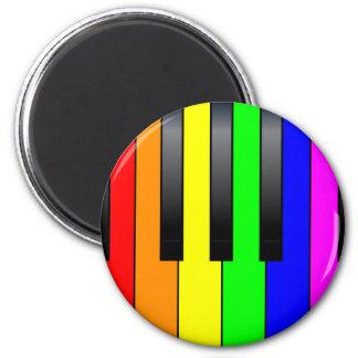 Trans Gay Piano Keys Magnet