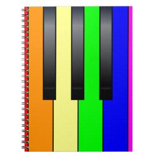 Trans Gay Piano Keys Notebooks
