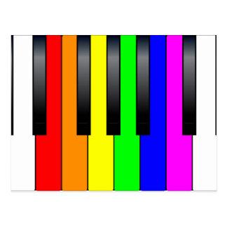 Trans Gay Piano Keys Postcard