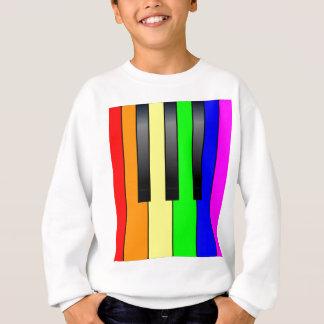 Trans Gay Piano Keys Sweatshirt