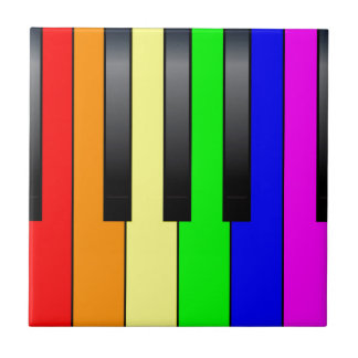 Trans Gay Piano Keys Tile
