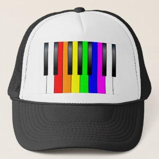 Trans Gay Piano Keys Trucker Hat