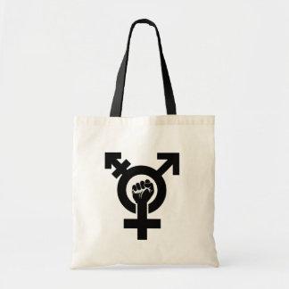 Trans Gender Resistance Symbol - - -  Tote Bag
