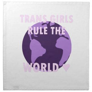 Trans Girls Rule The World (v1) Napkin