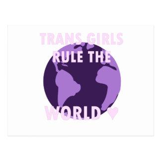 Trans Girls Rule The World (v1) Postcard