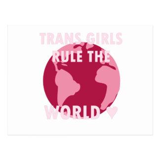 Trans Girls Rule The World (v2) Postcard
