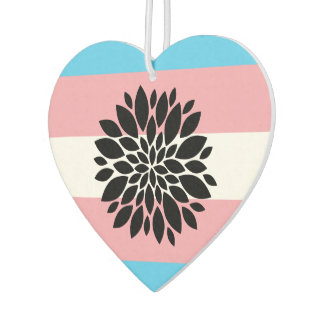 Trans Heart Car Air Freshener