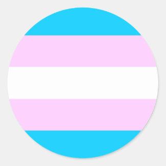 Trans Pride stickers - round