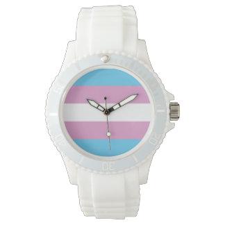 TRANS PRIDE STRIPED HORIZONTAL - 2014 PRIDE.png Wrist Watches