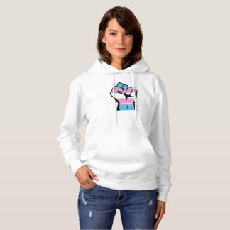 Trans Resistance - Trans Flag and Fist - -  Hoodie