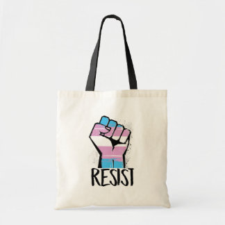 Trans Resistance - Trans Flag and Fist - Resist -