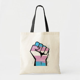 Trans Resistance - Trans Flag and Fist - -  Tote Bag