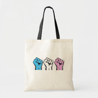 Trans Resistance - Trans Flag and Fist - Trans Pri Tote Bag