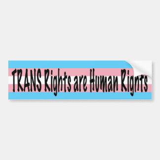 TRANS Rights are Human Rights Bumper Sticker