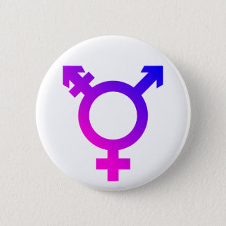 Trans* Symbol pink/blue 6 Cm Round Badge
