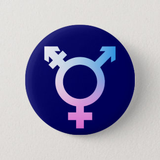 Trans* symbol pink/blue/white 6 cm round badge