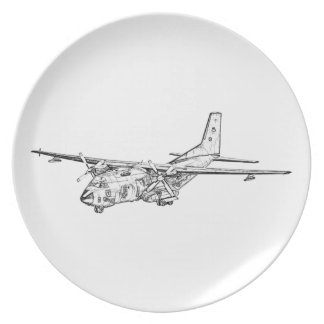 Transall C-160 military transport aircraft Plates
