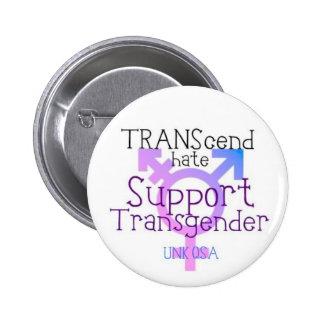 """""""TRANScend Hate"""" - Transgender Button"""