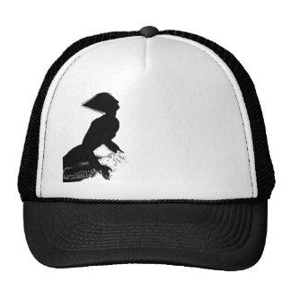Transcendor Lid Black and white Trucker Hats