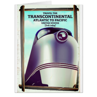 Transcontinental Railroad USA. Card