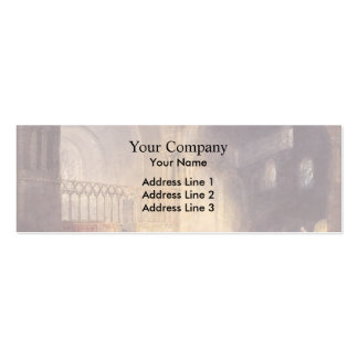 Transept of Ewenny Priory by William Turner Business Card Template