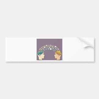 Transfer of information between minds bumper sticker