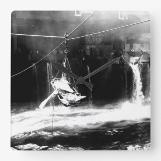 Transfer of wounded from USS BUNKER_War Image Clocks