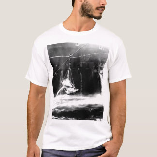Transfer of wounded from USS BUNKER_War Image T-Shirt