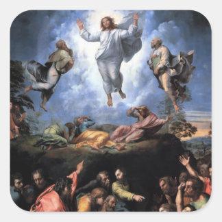 TRANSFIGURATION OF JESUS SQUARE STICKERS