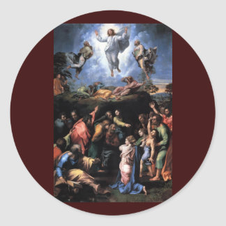 TRANSFIGURATION OF JESUS ROUND STICKER