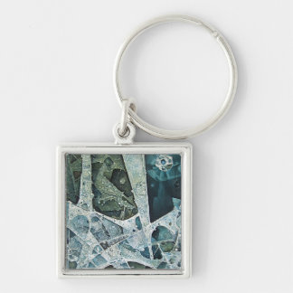 Transfiguration Silver-Colored Square Key Ring