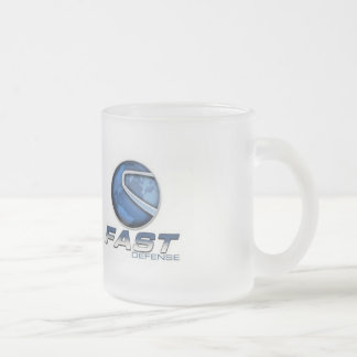 Transform fear into power frosted glass coffee mug