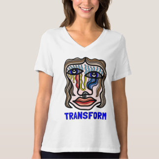 """Transform"" Women's Relaxed Fit V-Neck T-Shirt"