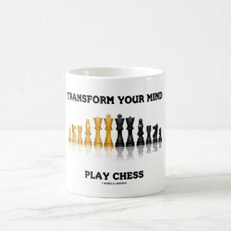 Transform Your Mind Play Chess Advice Chess Set Coffee Mug