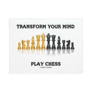 Transform Your Mind Play Chess Advice Chess Set Doormat