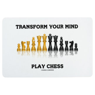 Transform Your Mind Play Chess Advice Chess Set Floor Mat