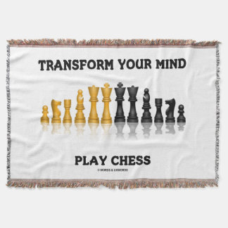 Transform Your Mind Play Chess Advice Chess Set Throw Blanket