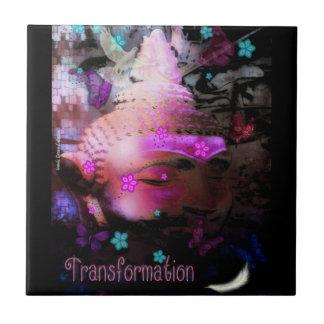 Transformation Buddha Ceramic Tile Pink