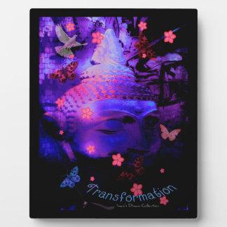 Transformation Buddha Picture Plaque Purple