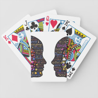 Transformation described bicycle playing cards