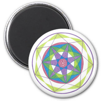 Transformation Mandala 6 Cm Round Magnet