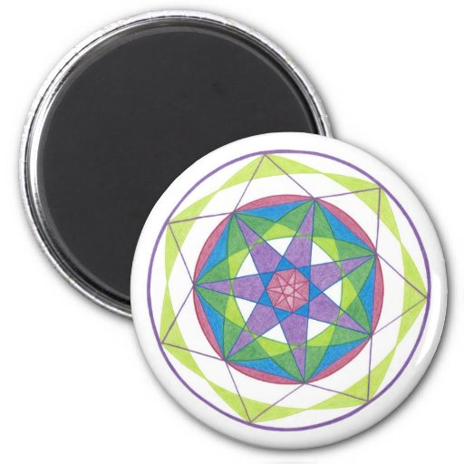 Transformation Mandala Fridge Magnets