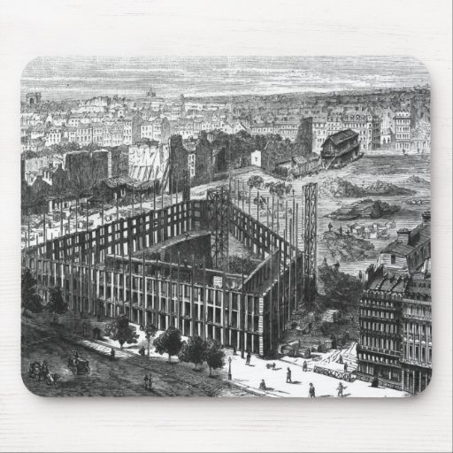 Transformation of Paris: Building in 1861 Mouse Pads