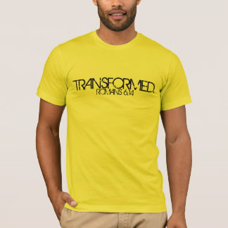TRANSFORMED bible scripture Romans 6:14 t-shirt