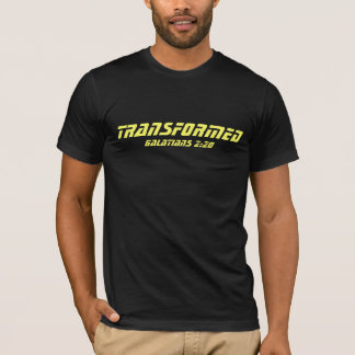 TRANSFORMED bible verse Galatians 2:20 t-shirt