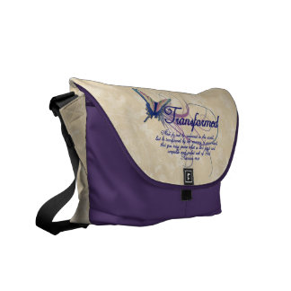 Transformed, Pretty Butterfly Christian Womens Bag Commuter Bag