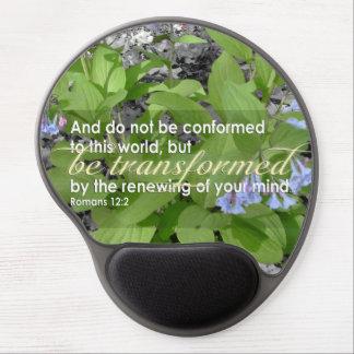 Transformed Romans 12:2 Christian Bible Floral Gel Mouse Pad