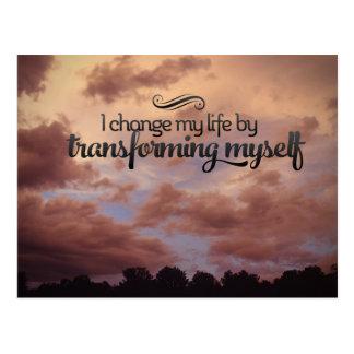 Transforming Myself Postcard